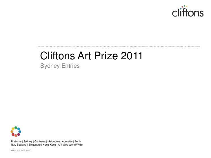 Cliftons Art Prize 2011<br />Sydney Entries<br />