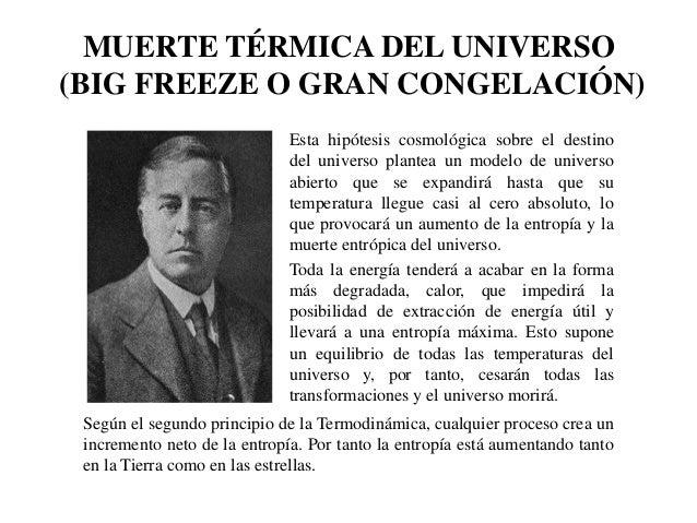 Entropía y muerte térmica del universo