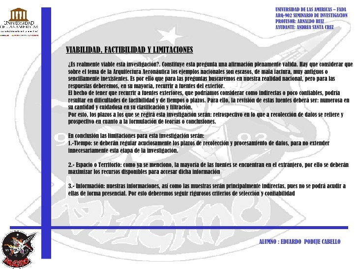 UNIVERSIDAD DE LAS AMERICAS – FADA ARQ-902 SEMINARIO DE INVESTIGACION PROFESOR: ARNALDO RUIZ AYUDANTE: ANDREA SANTA CRUZ A...