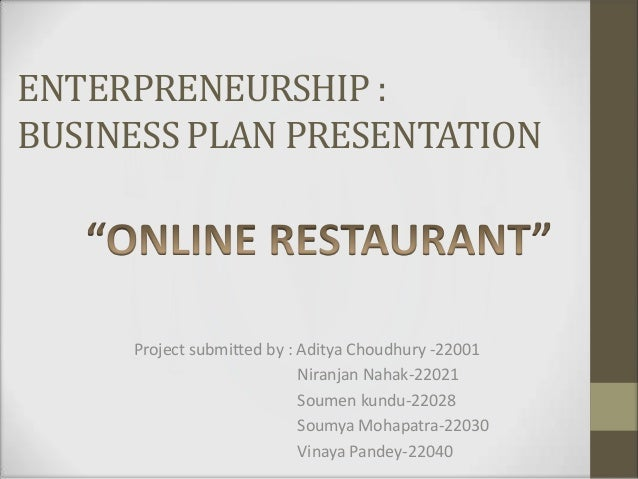A Sample Online Food Delivery Service Business Plan Template