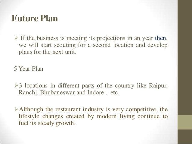 OnLine Restaurant Business plan for an entrepreneur