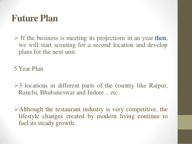 Vision of restaurant business plan