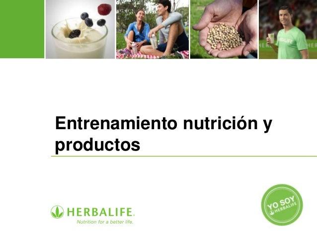 Entrenamiento nutrición y productos
