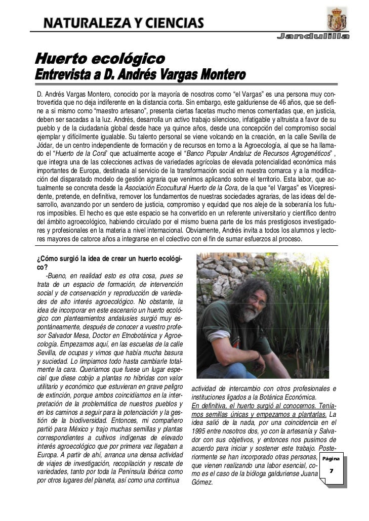 """D. Andrés Vargas Montero, conocido por la mayoría de nosotros como """"el Vargas"""" es una persona muy con-trovertida que no de..."""