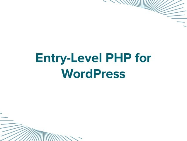 Entry-Level PHP for WordPress