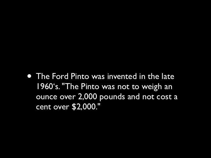 • During design and production, however,  crash tests revealed a serious defect in the  gas tank. In crashes over 25 miles...