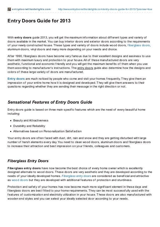 ent rydoorwit hsidelight s.com http://www.entrydoorwithsidelights.com/entry-doors-guide-for-2013/?preview=trueEntry Doors ...