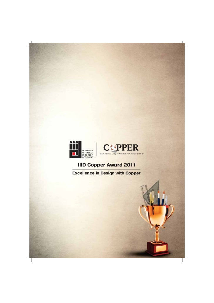 IIID Copper Award 2011Excellence in Design with Copper