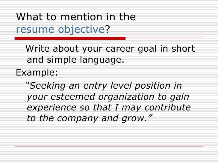 5 what to mention in the resume objective