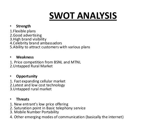 swot analysis of rcom Reliance communications competitors list - compare reliance communications with its competitors in terms of share price, stock price forecast, trends, charts and more on the economic times.