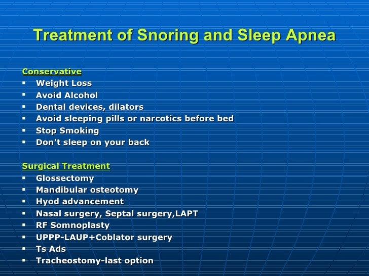 Snoring And Obstructive Sleep Apnea Management