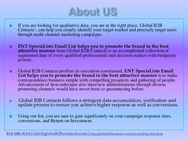 Ent specia lists email list helps you to promote the brand in the best attractive manner Slide 2