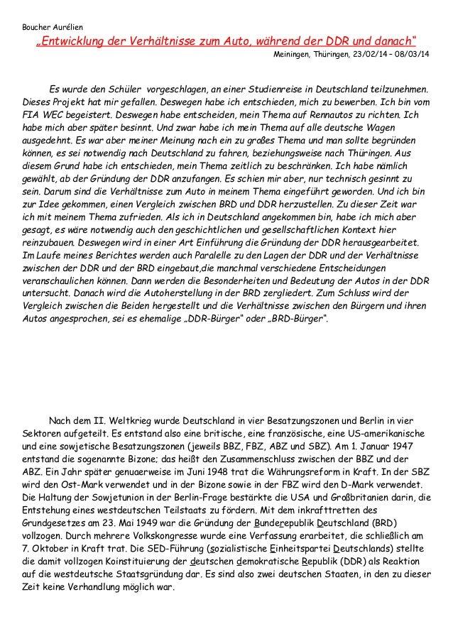 """Boucher Aurélien """"Entwicklung der Verhältnisse zum Auto, während der DDR und danach"""" Meiningen, Thüringen, 23/02/14 – 08/0..."""