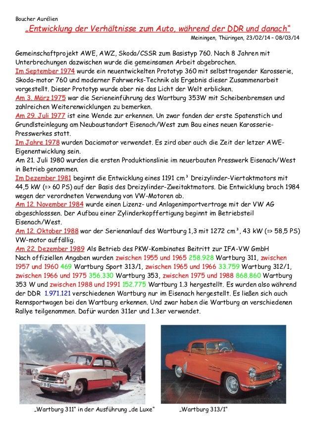 Entwicklung der verhältnisse zum auto, während der ddr und danach pdf Slide 3