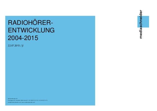 Mediaschneider AG Mediaschneider AG Höschgasse45|Postfach|8034 Zürich |T +4144387 52 72 |F+4144 387 52 73 info@mediaschnei...