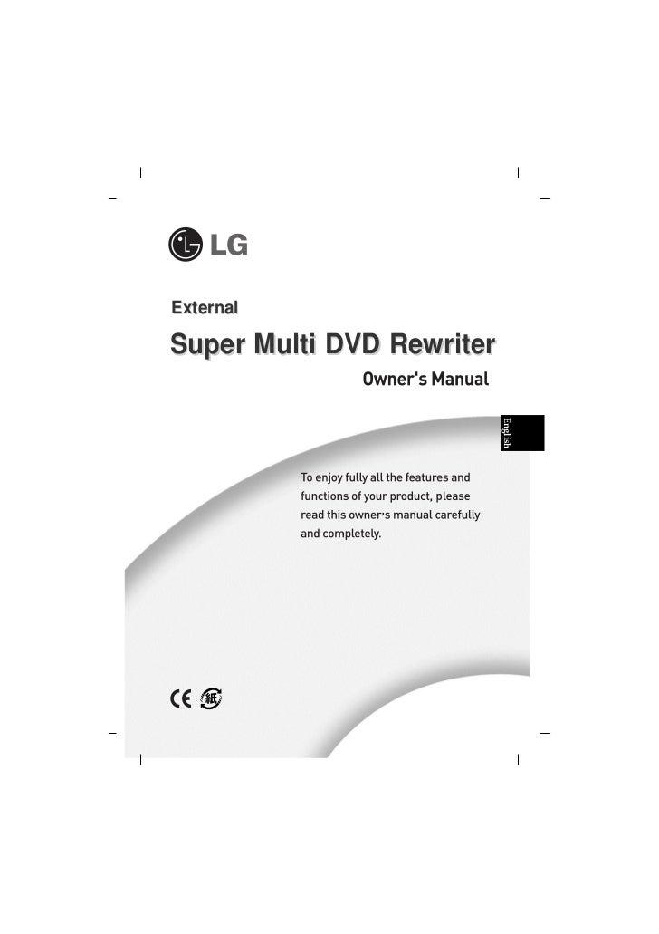 ExternalSuper Multi DVD Rewriter                           English