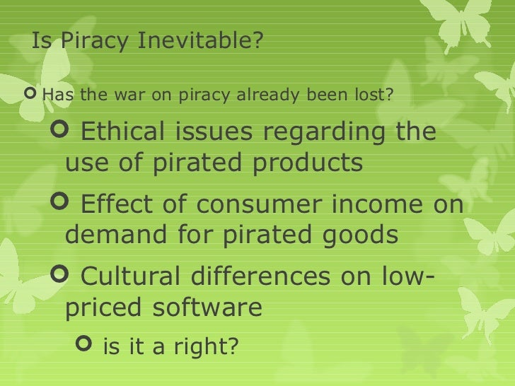 a description of the economic consequences of software piracy The effects of software piracy on economic development  software piracy descriptionpdf  making more copies of the software than the license permits=piracy.