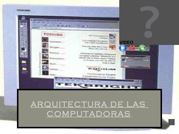 ARQUITECTURA DE LAS  COMPUTADORAS   VIDEO