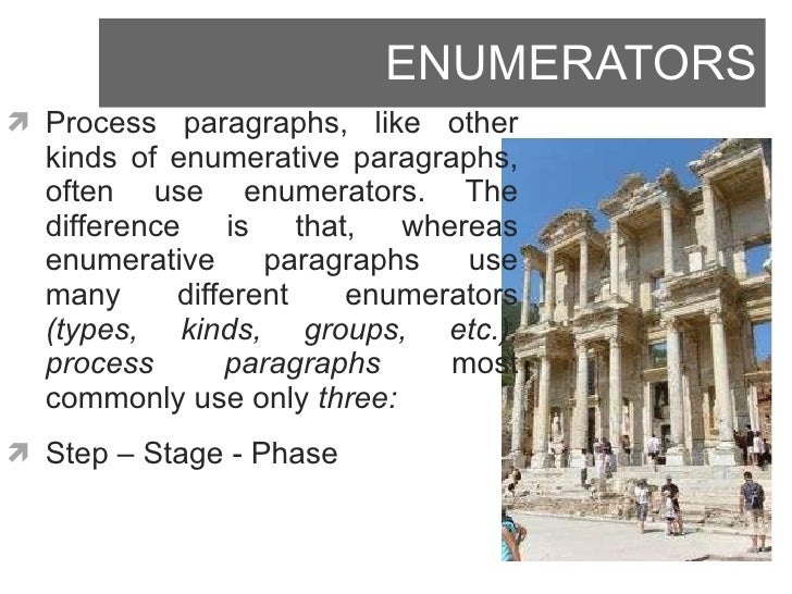 "example of enumeration essay Essay example: ""the four idols "" the quote above excerpted from francis bacon's ""the four idols"", is an example of a rhetoric technique called enumeration."