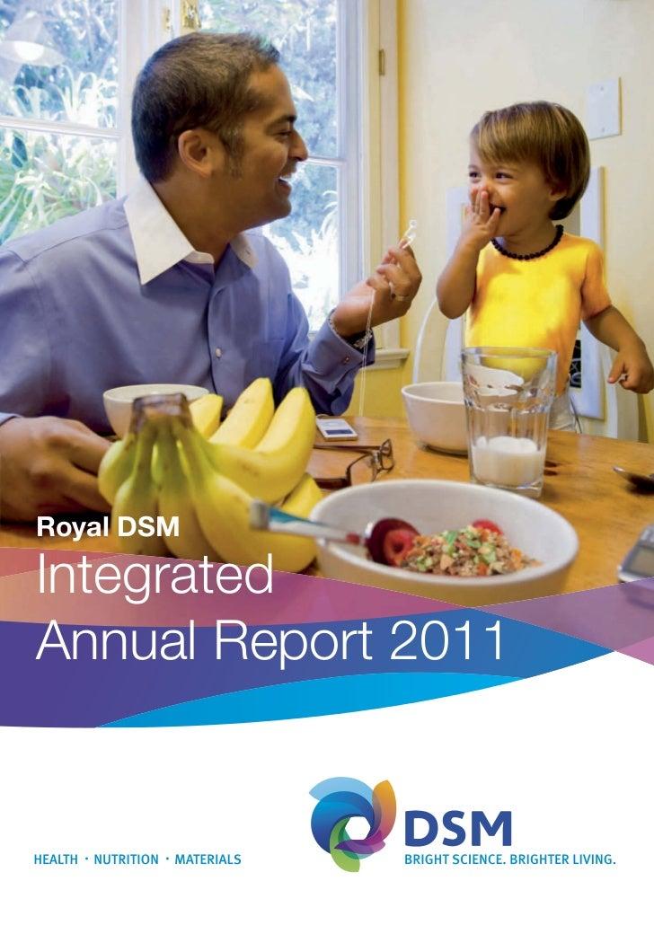 Royal DSMIntegratedAnnual Report 2011