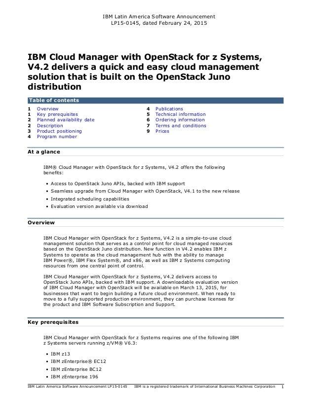IBM Latin America Software Announcement LP15-0145, dated February 24, 2015 IBM Latin America Software Announcement LP15-01...