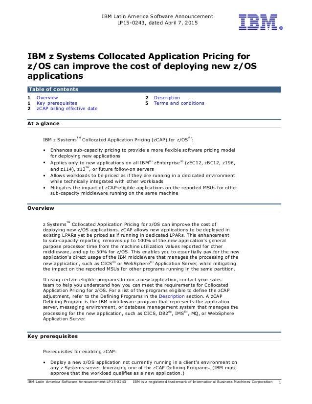 IBM Latin America Software Announcement LP15-0243, dated April 7, 2015 IBM Latin America Software Announcement LP15-0243 I...