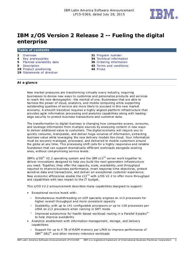 IBM Latin America Software Announcement LP15-0369, dated July 28, 2015 IBM Latin America Software Announcement LP15-0369 I...