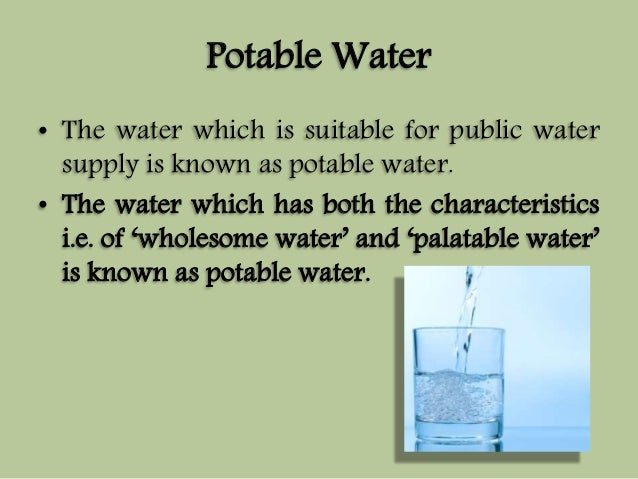 Wholesome Drinking Water Definition