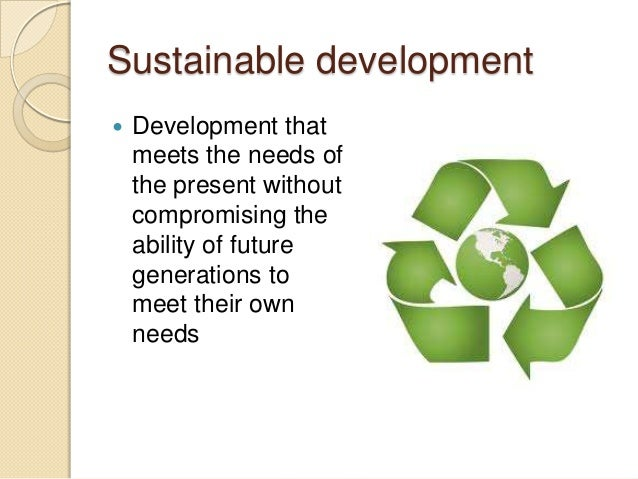 Ecological awareness and sustainable development