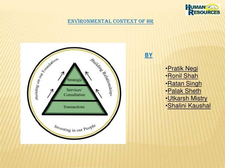 Environmental Context Of Hr<br />BY<br /><ul><li>PratikNegi