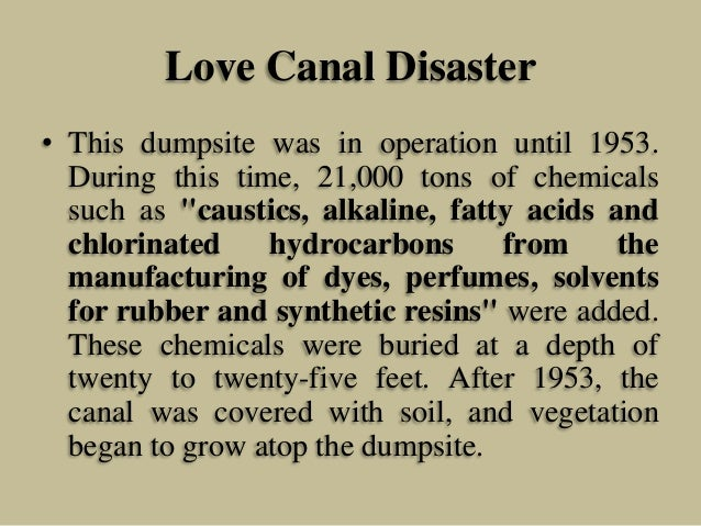 The Tragedy of the Love Canal • Damn Interesting