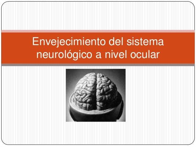 Envejecimiento del sistema neurológico a nivel ocular