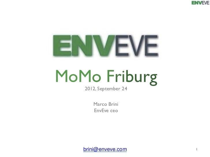MoMo Friburg    2012, September 24        Marco Brini        EnvEve ceo   brini@enveve.com         1