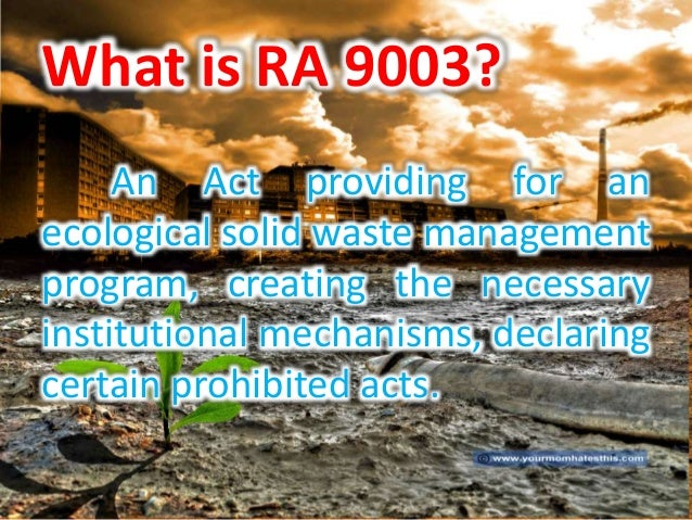 ecological solid waste management thesis
