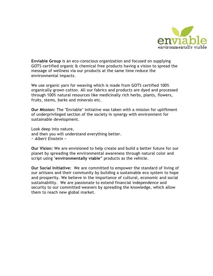 Enviable Group is an eco-conscious organization and focused on supplying GOTS certified organic & chemical free products h...