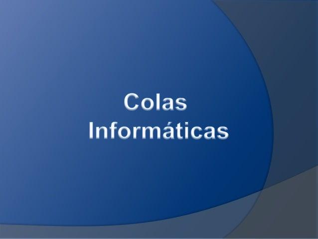 Una cola no es mas que una estructura de datos que seimplementa en lenguaje orientado a objetos en forma de listasenlazada...