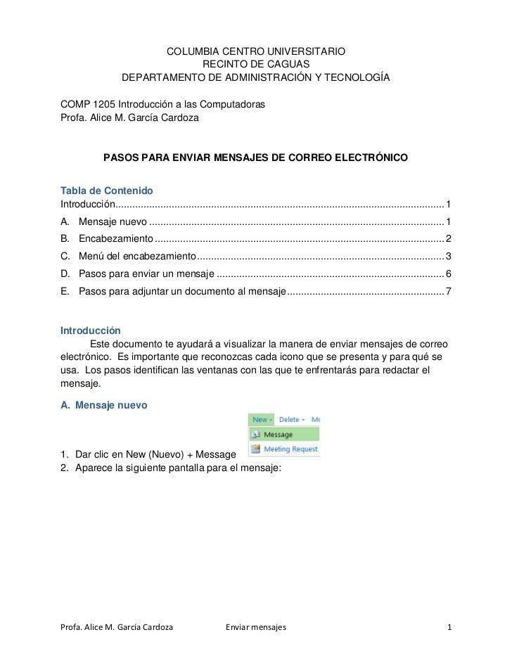 COLUMBIA CENTRO UNIVERSITARIO                                RECINTO DE CAGUAS                    DEPARTAMENTO DE ADMINIST...