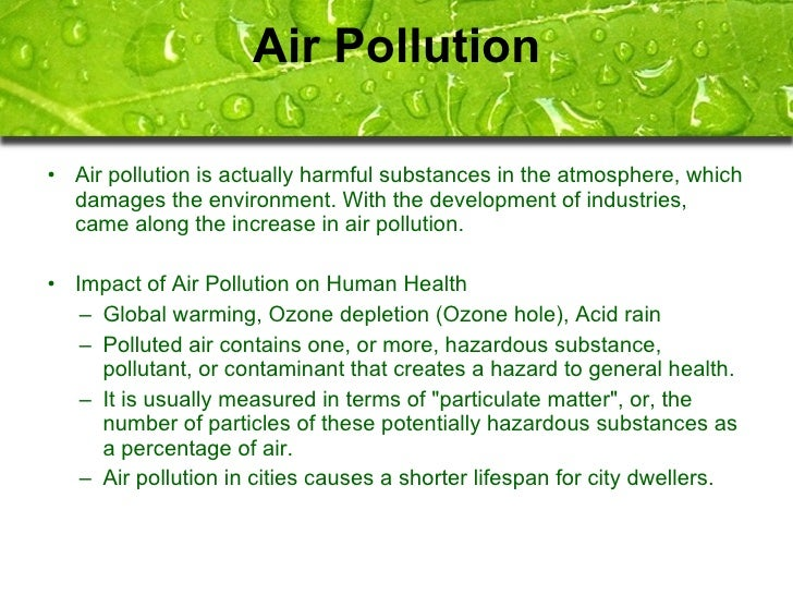 Harmful Effects Of Air Pollution Essay
