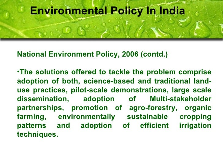 environmental policy in india pdf