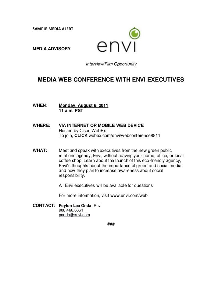Envi Media Alert