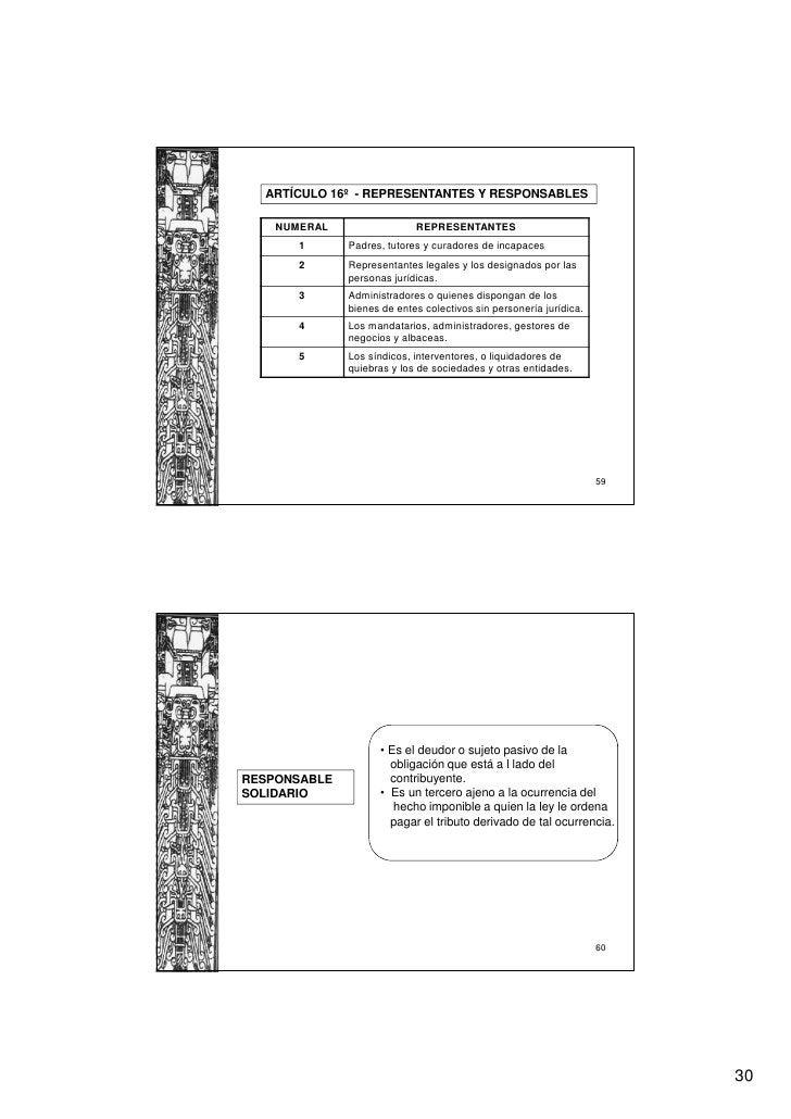 ARTÍCULO 16º - REPRESENTANTES Y RESPONSABLES    NUMERAL                 REPRESENTANTES       1      Padres, tutores y cura...