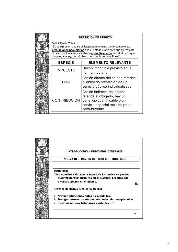 """DEFINICIÓN DE TRIBUTODefinición de Tributo:""""Es la expresión que se utiliza para denominar genéricamente lasprestaciones pe..."""
