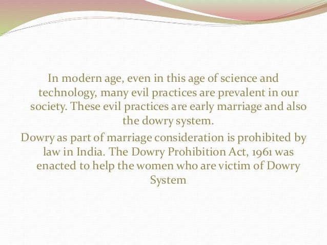 how to stop dowry system