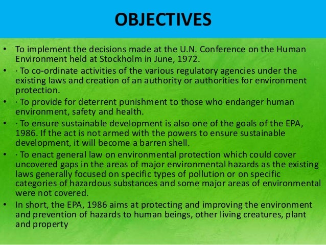 Essay on need for environmental protection