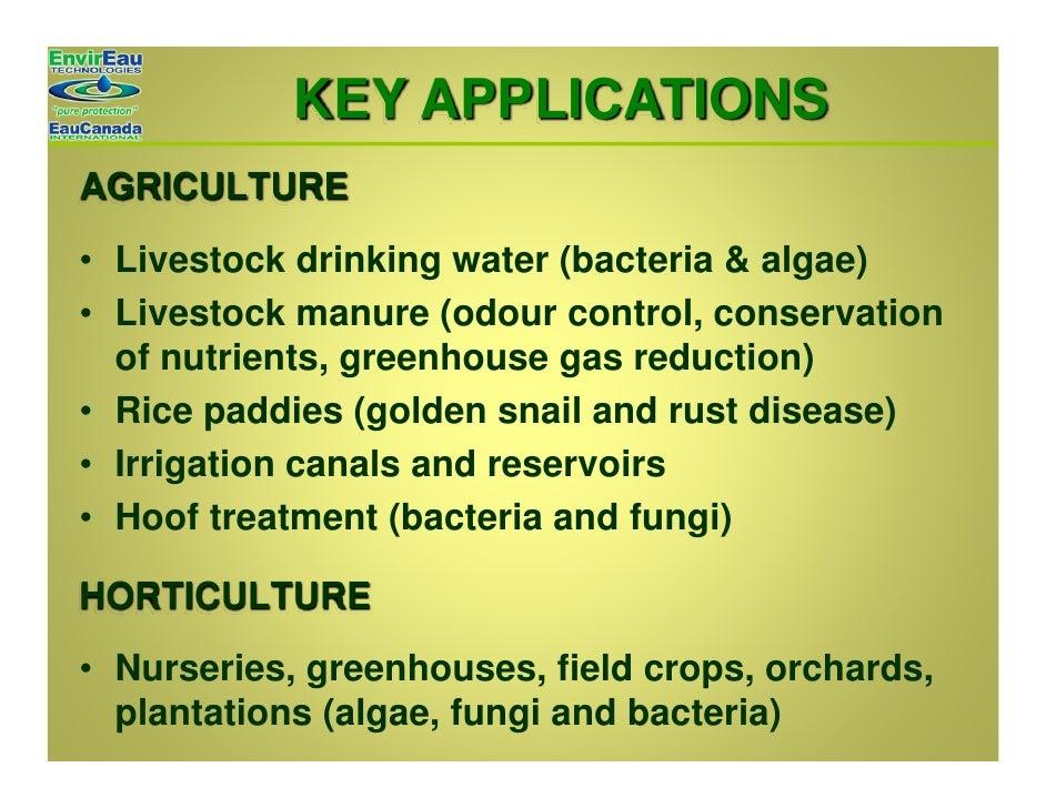 Envir eau technologies general presentation 2009 for Fish odor syndrome natural remedies