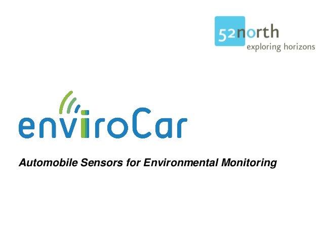 Automobile Sensors for Environmental Monitoring