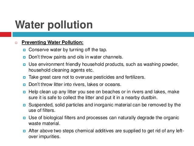 Short Article for Students on Water Pollution
