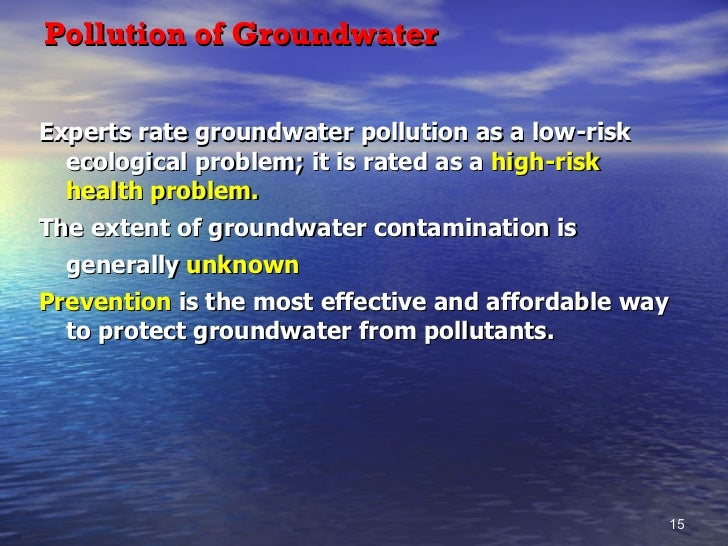 pollution problems that are relatively unknown Problem: pollution a pollutant is any substance that, when in an environment, poisons our air, land and water chemicals have poisoned all of the world, harming humans, wildlife, and plant life, on land, sea and air.