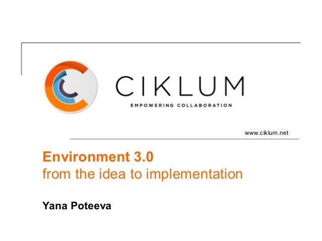 www.ciklum.netEnvironment 3.0from the idea to implementationYana Poteeva
