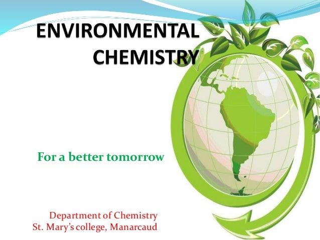Environmental chemistry coursework